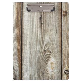 old wood clipboard