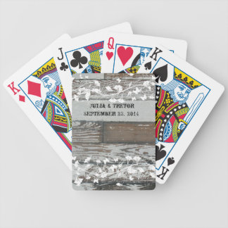 Old Wood Country White Personalized Poker Deck