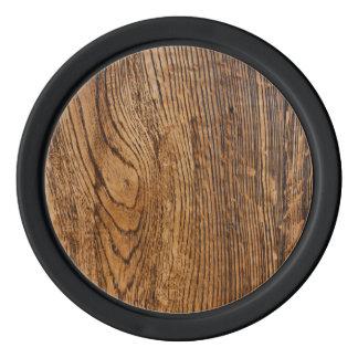 Old wood grain look poker chips