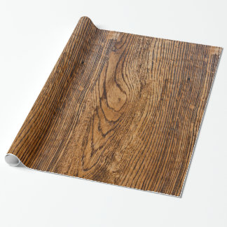 Old wood grain look wrapping paper