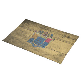 Old Wood New Jersey Flag; Placemats