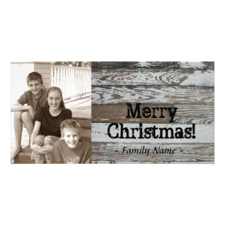 Old Wood Photo Christmas Card