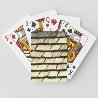 Old Wood Planks Texture Playing Cards