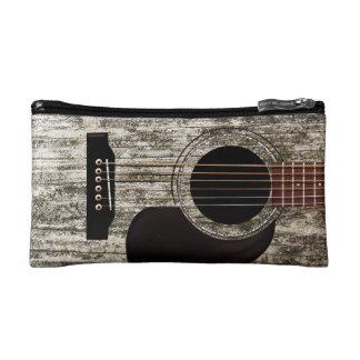 Old Wood Top Acoustic Guitar Cosmetic Bags