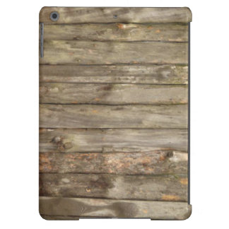 old wood vintage iPad case
