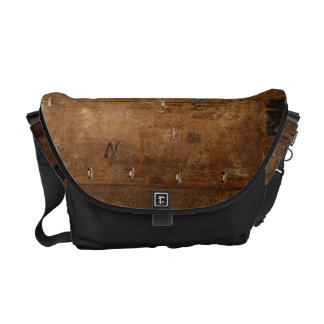 Old Wood with (or without) Initial Messenger Bags