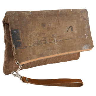 Old Wood with (or without) Initials Clutch