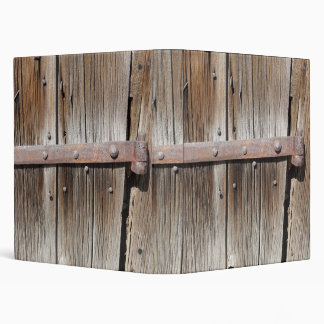 Old Wood with Rusty Metal Hinge Binder
