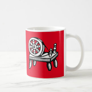 Old Woodcut Spinning Wheel Image Coffee Mug