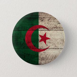 Old Wooden Algeria Flag 2 Inch Round Button
