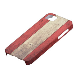 Old Wooden Austria Flag iPhone 5 Case