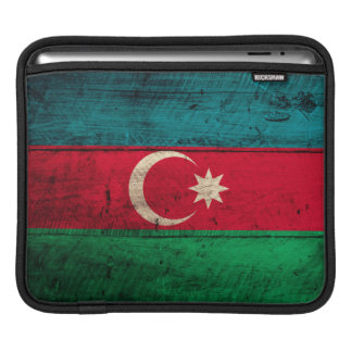 Old Wooden Azerbaijan Flag iPad Sleeve