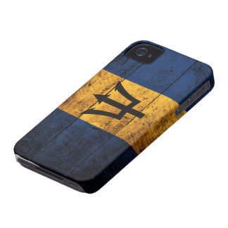 Old Wooden Barbados Flag iPhone 4 Case