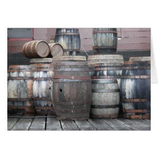 Old Wooden Barrels Card