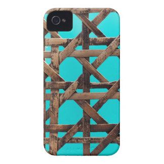 Old wooden basketwork iPhone 4 Case-Mate case