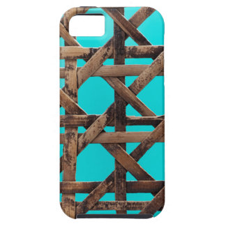 Old wooden basketwork iPhone 5 cover