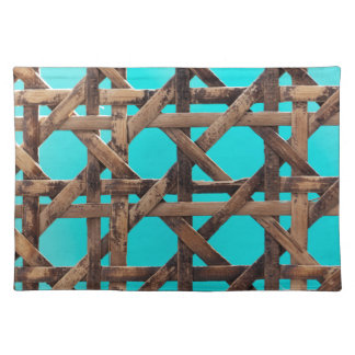 Old wooden basketwork placemat