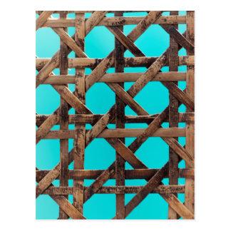 Old wooden basketwork postcard