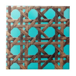 Old wooden basketwork tile