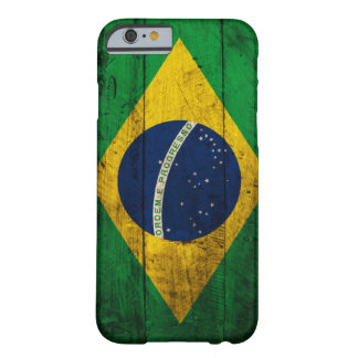 Old Wooden Brazil Flag Barely There iPhone 6 Case