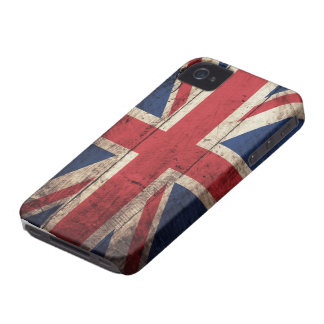 Old Wooden British Flag iPhone 4 Case-Mate Case