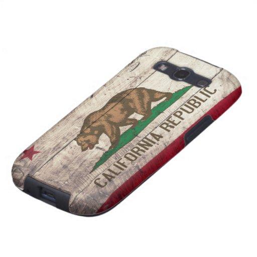 Old Wooden California Flag Samsung Galaxy SIII Cases