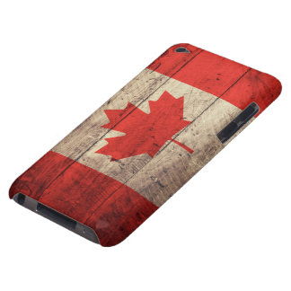 Old Wooden Canadian Flag iPod Touch Case