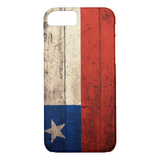 Old Wooden Chile Flag iPhone 7 Case