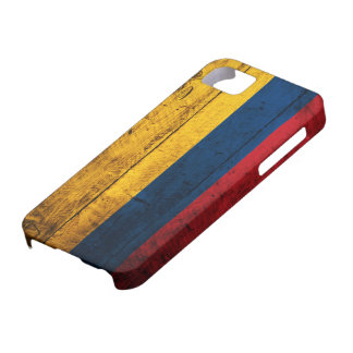 Old Wooden Colombia Flag Case For The iPhone 5