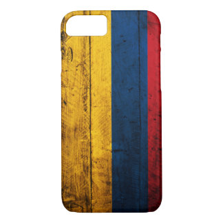 Old Wooden Colombia Flag iPhone 8/7 Case