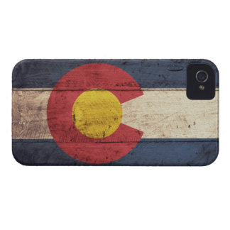 Old Wooden Colorado Flag iPhone 4 Case