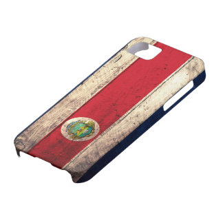 Old Wooden Costa Rican Flag iPhone 5 Cover