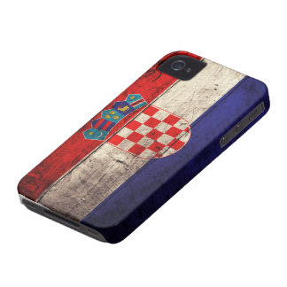 Old Wooden Croatia Flag iPhone 4 Case-Mate Cases