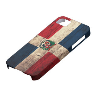 Old Wooden Dominican Republic Flag iPhone 5 Cases