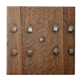 Old Wooden Door Antique Nails Tile