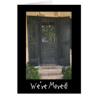 Old Wooden Door Change Of Address Card