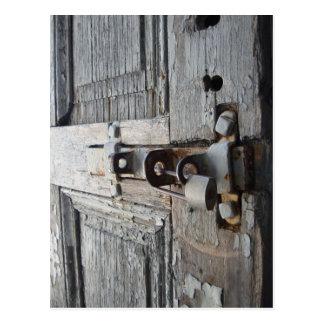 Old Wooden Door Postcard