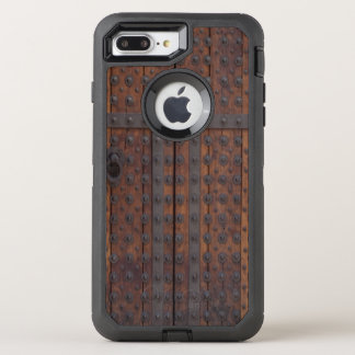 Old Wooden Door With Black Metal Reinforcements OtterBox Defender iPhone 8 Plus/7 Plus Case