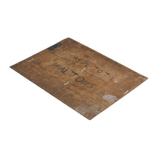 "Old ""Wooden"" Doormat with (or without) your Name"