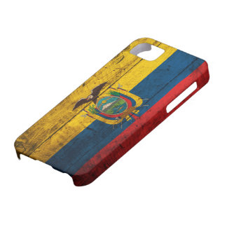 Old Wooden Ecuador Flag Case For The iPhone 5