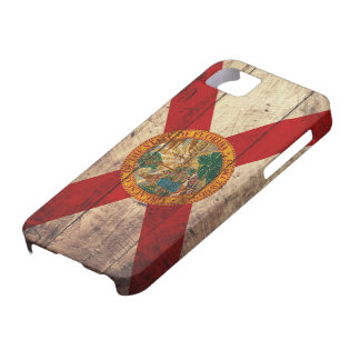 Old Wooden Florida Flag; iPhone 5 Cover