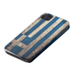 Old Wooden Greece Flag Case-Mate iPhone 4 Cases