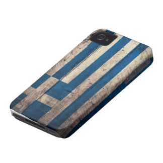 Old Wooden Greece Flag iPhone 4 Cover