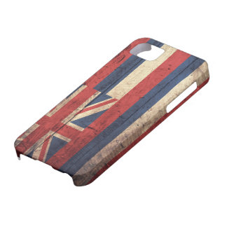 Old Wooden Hawaii Flag; iPhone 5 Cases