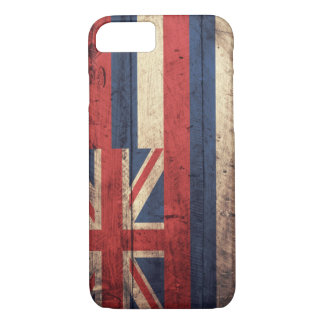 Old Wooden Hawaii Flag; iPhone 7 Case