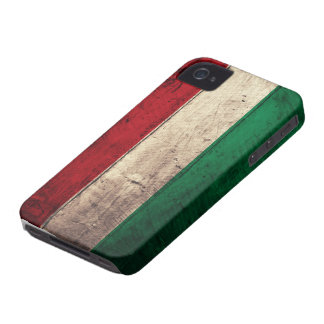 Old Wooden Hungary Flag iPhone 4 Cases