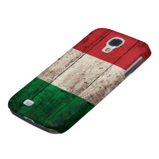 Old Wooden Italy Flag Samsung Galaxy S4 Cases