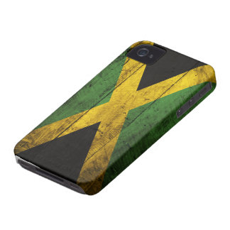 Old Wooden Jamaica Flag iPhone 4 Cover