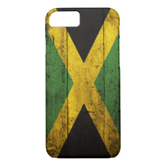 Old Wooden Jamaica Flag iPhone 7 Case