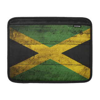 Old Wooden Jamaica Flag MacBook Sleeve